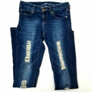INC Denim Size 2 Jeans Distressed Ripped Sequins